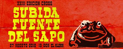 XXIII Cross SUBIDA A LA FUENTE DEL SAPO. 27 de agosto