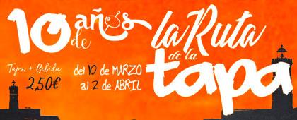 X RUTA DE LA TAPA y EL ASIÁTICO. Del 10 de marzo al 2 de abril